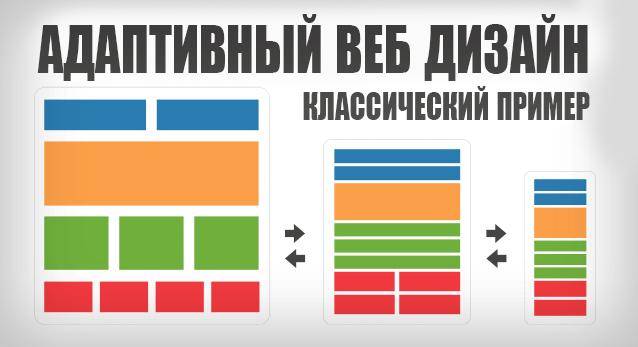 Пример адаптивного веб дизайна. Responsive web design example